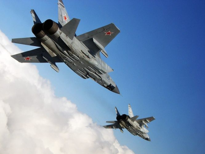 MIG-31 fighter jet military airplane plane russian mig (5) wallpaper
