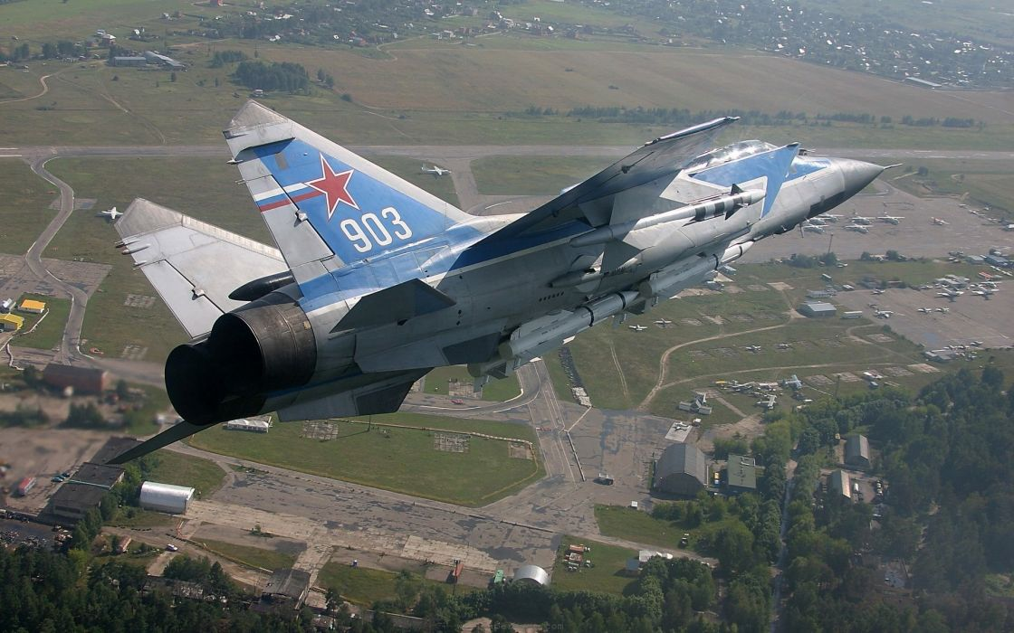 MIG-31 fighter jet military airplane plane russian mig (20) wallpaper