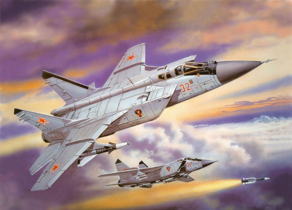 MIG-31 fighter jet military airplane plane russian mig (21) wallpaper