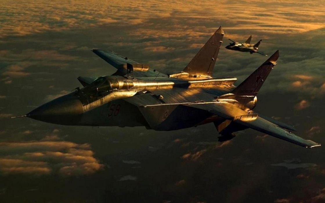 MIG-31 fighter jet military airplane plane russian mig (25) wallpaper