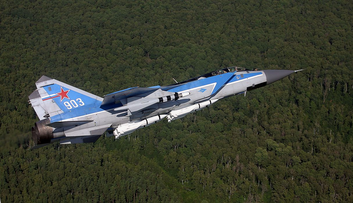 MIG-31 fighter jet military airplane plane russian mig (30) wallpaper