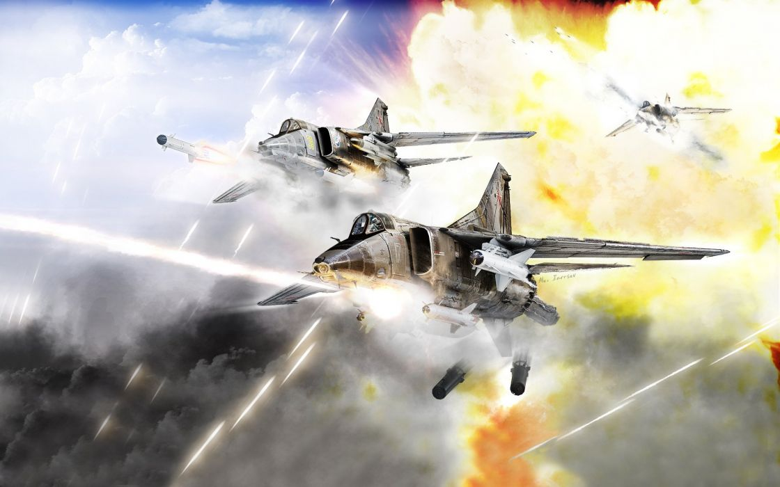 MIG-27 fighter jet russian airplane plane military mig (1) wallpaper