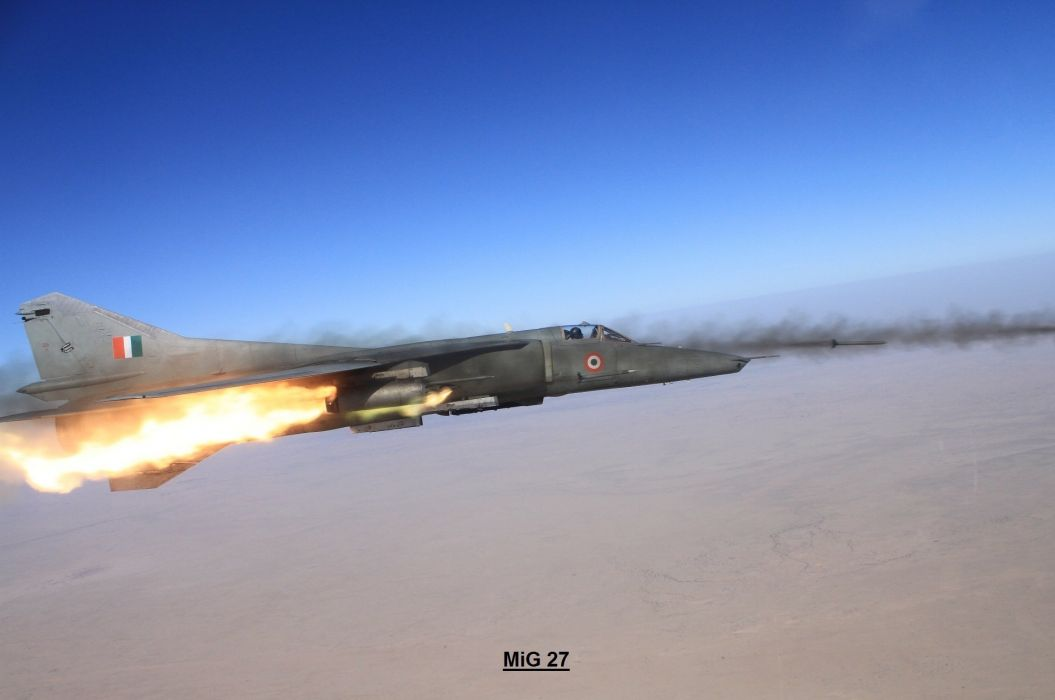 MIG-27 fighter jet russian airplane plane military mig (11) wallpaper