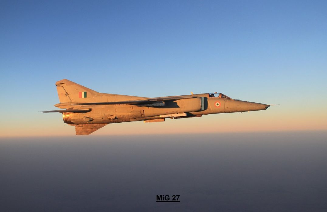 MIG-27 fighter jet russian airplane plane military mig (12) wallpaper