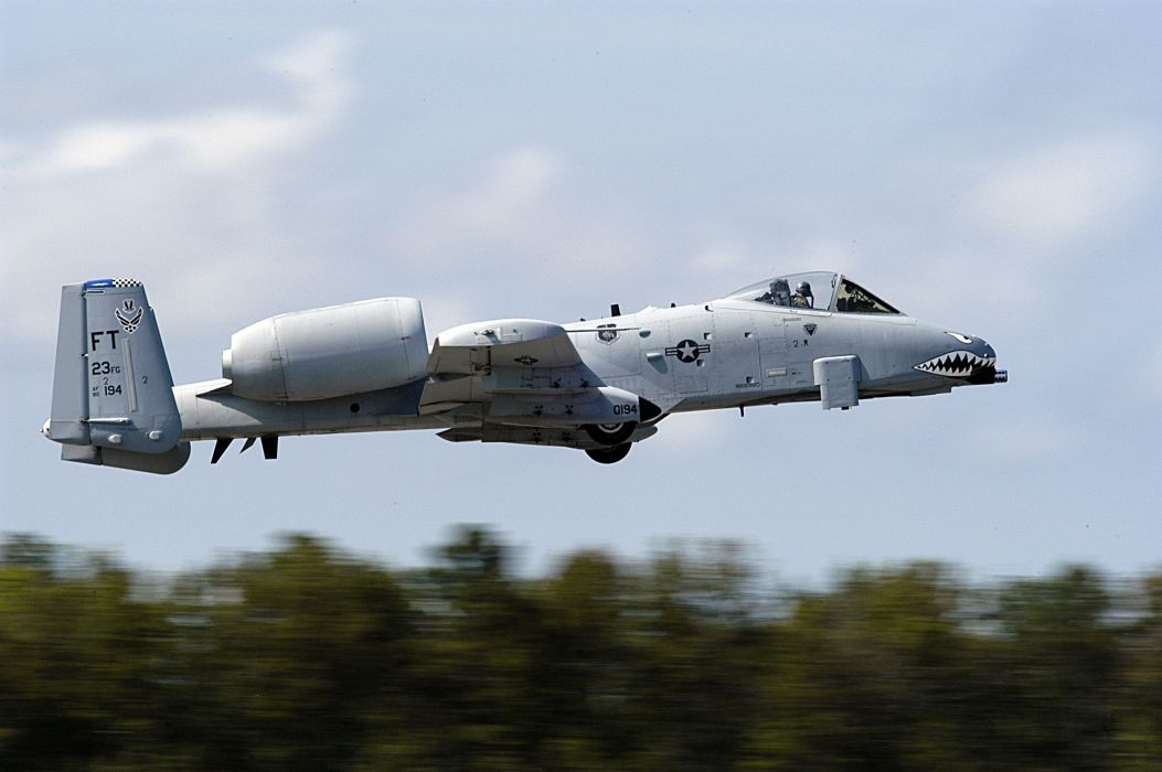 A-10 bomber jet fighter bomb military airplane plane thunderbolt warthog (8) wallpaper