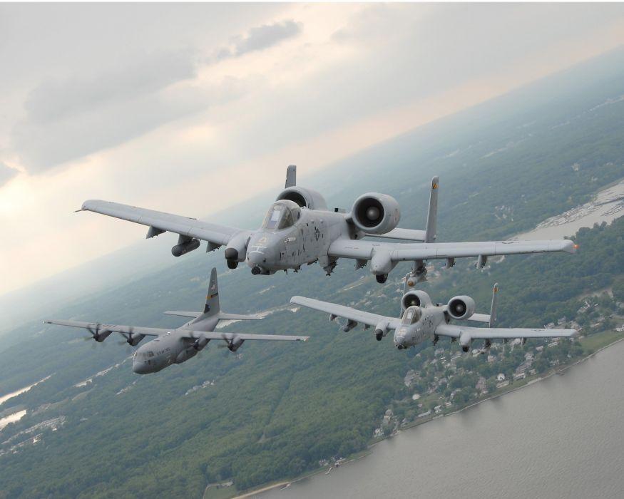 A-10 bomber jet fighter bomb military airplane plane thunderbolt warthog (11) wallpaper