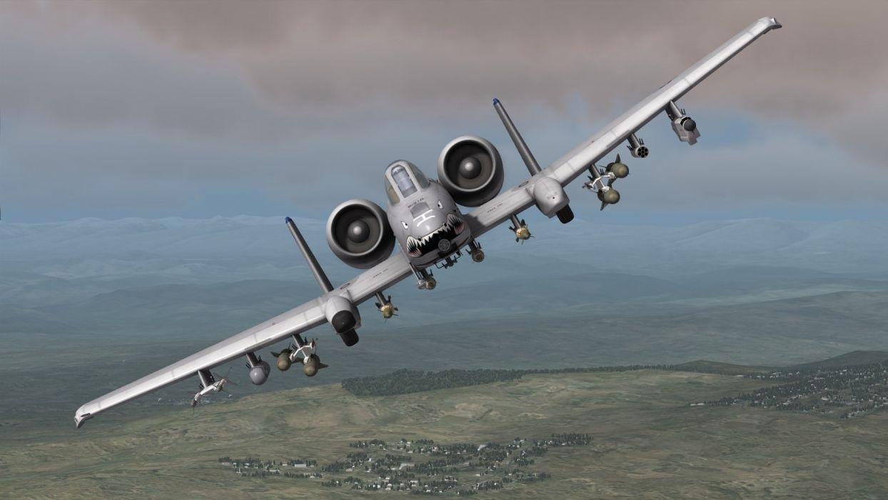 A-10 bomber jet fighter bomb military airplane plane thunderbolt warthog (15) wallpaper
