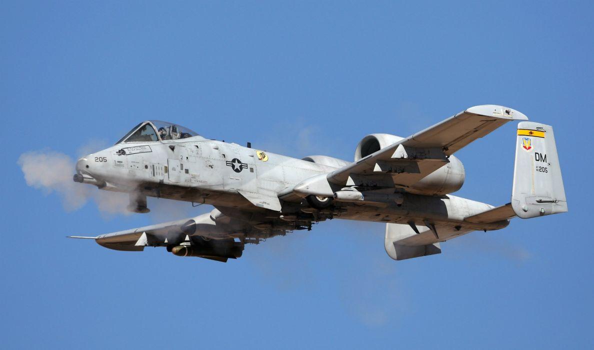 A-10 bomber jet fighter bomb military airplane plane thunderbolt warthog (18) wallpaper