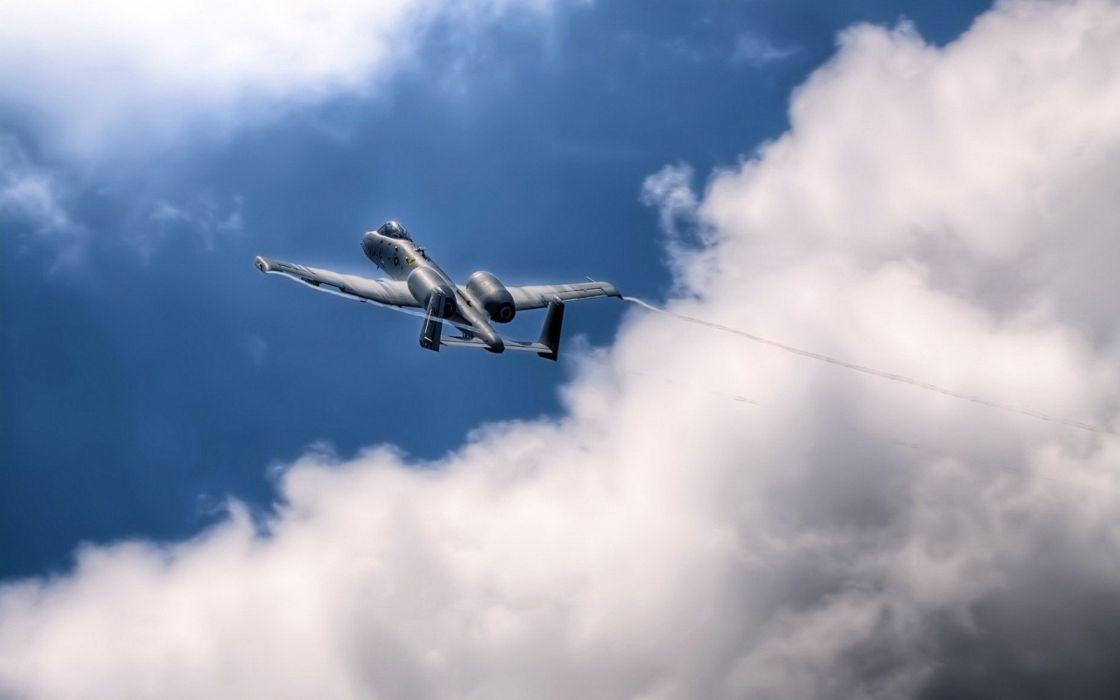 A-10 bomber jet fighter bomb military airplane plane thunderbolt warthog (19) wallpaper