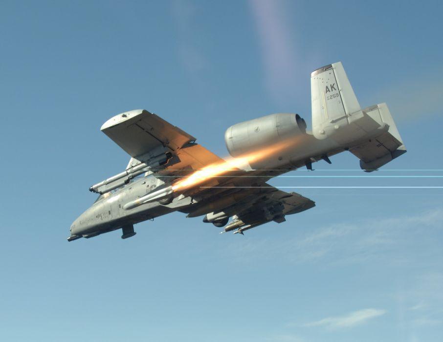 A-10 bomber jet fighter bomb military airplane plane thunderbolt warthog (26) wallpaper