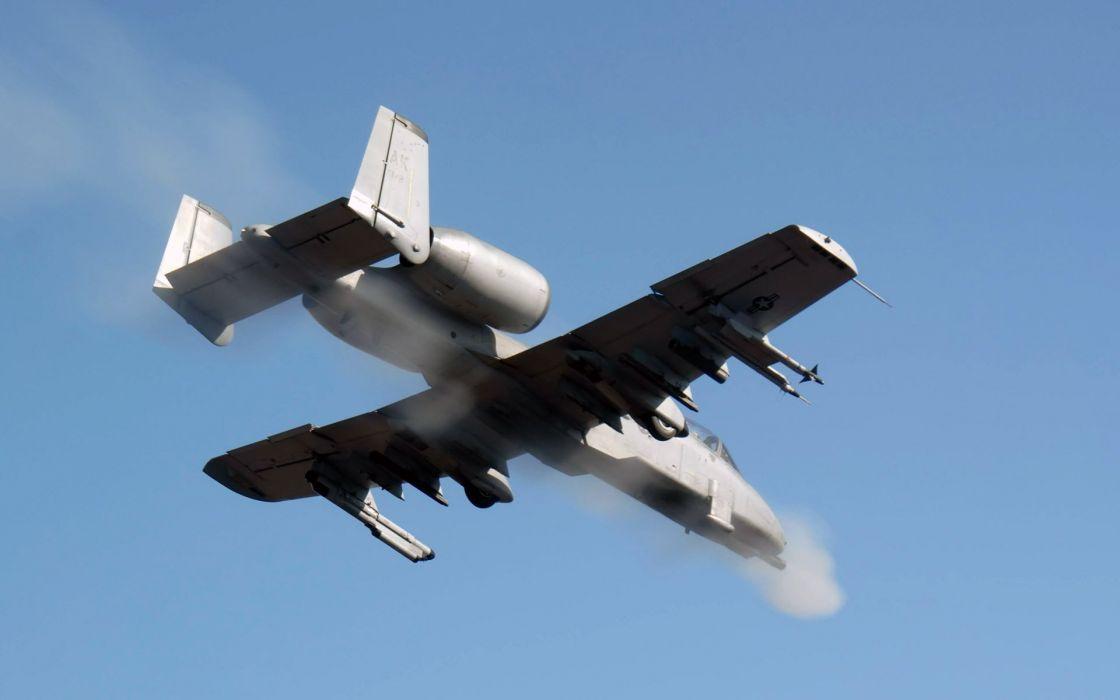 A-10 bomber jet fighter bomb military airplane plane thunderbolt warthog (33) wallpaper