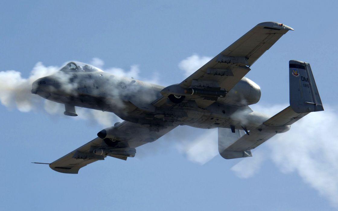A-10 bomber jet fighter bomb military airplane plane thunderbolt warthog (32) wallpaper