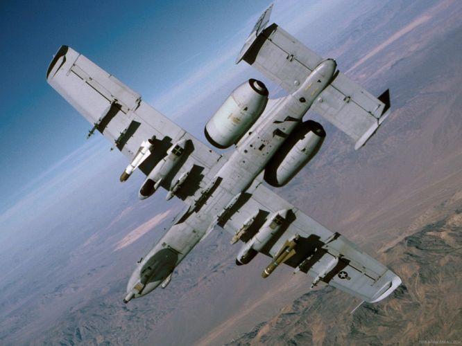 A-10 bomber jet fighter bomb military airplane plane thunderbolt warthog (31) wallpaper