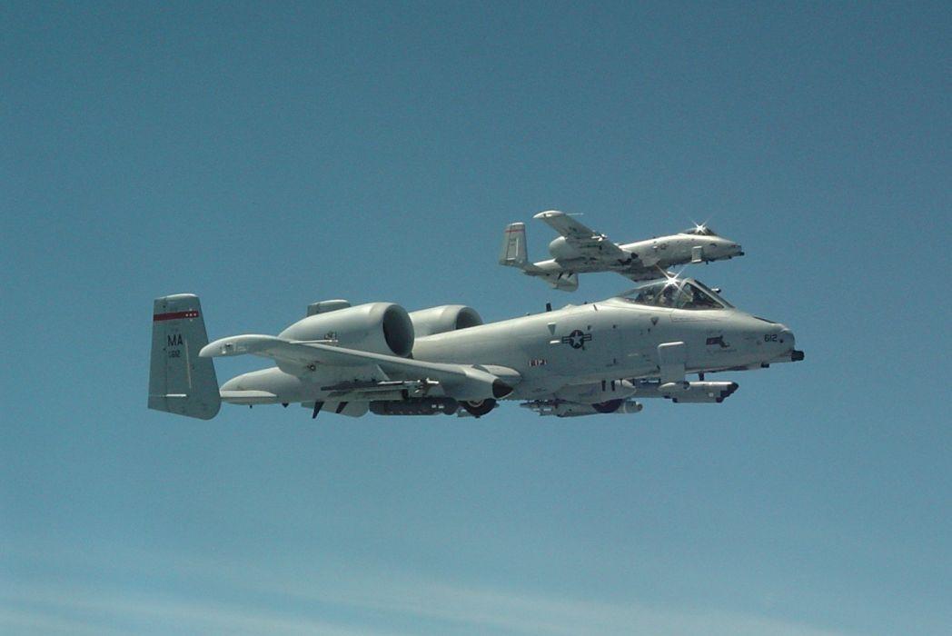 A-10 bomber jet fighter bomb military airplane plane thunderbolt warthog (37) wallpaper