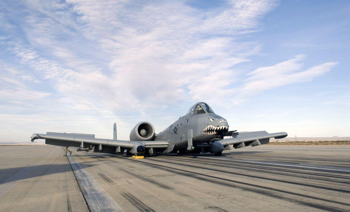 A-10 bomber jet fighter bomb military airplane plane thunderbolt warthog (36) wallpaper