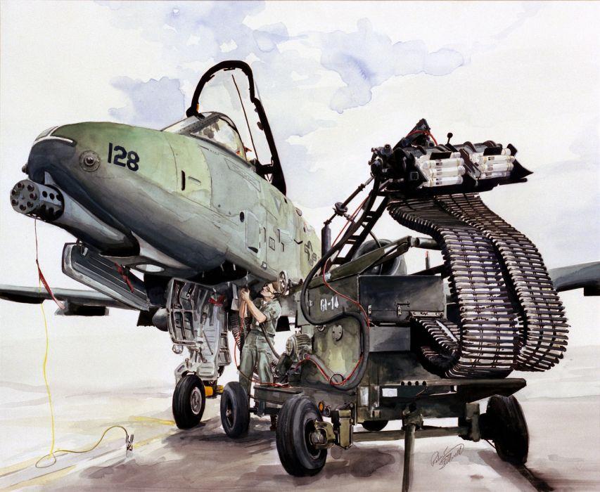 A-10 bomber jet fighter bomb military airplane plane thunderbolt warthog (34) wallpaper