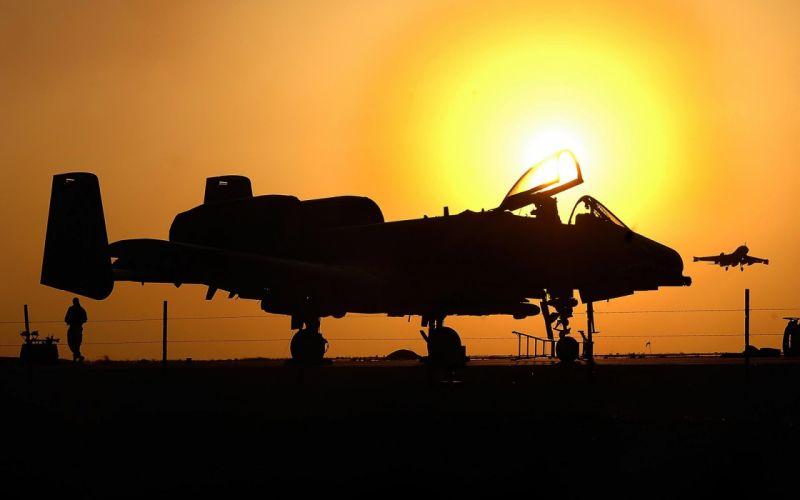 A-10 bomber jet fighter bomb military airplane plane thunderbolt warthog (46) wallpaper