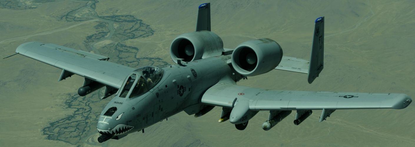 A-10 bomber jet fighter bomb military airplane plane thunderbolt warthog (50) wallpaper