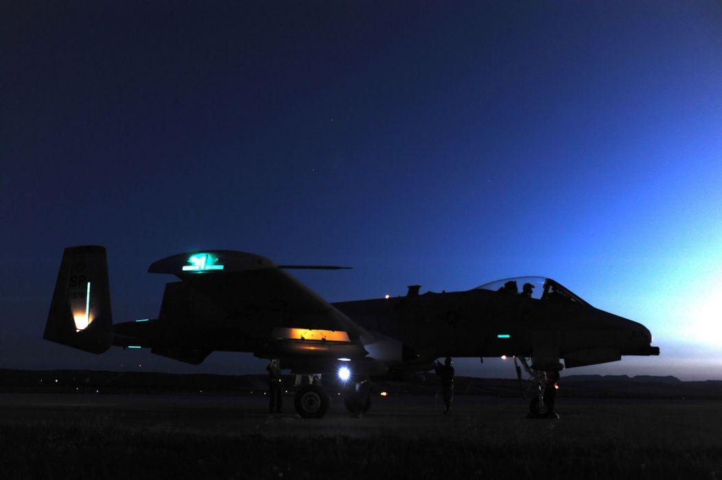 A-10 bomber jet fighter bomb military airplane plane thunderbolt warthog (51) wallpaper