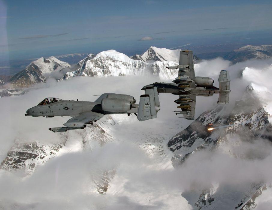 A-10 bomber jet fighter bomb military airplane plane thunderbolt warthog (54) wallpaper