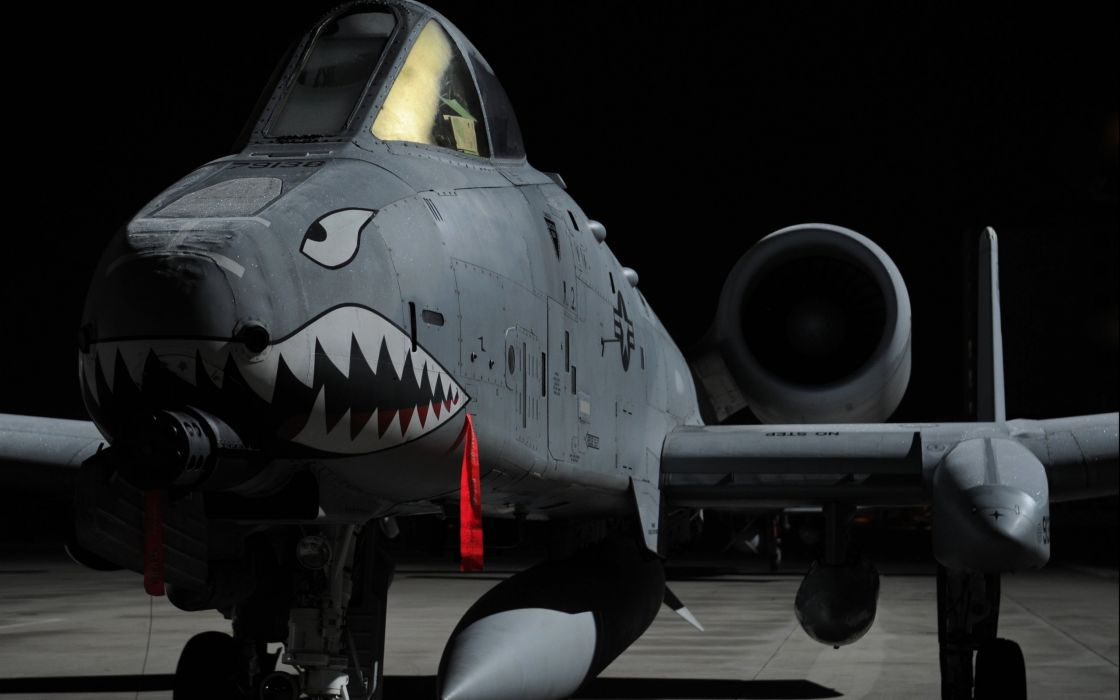 A-10 bomber jet fighter bomb military airplane plane thunderbolt warthog (62) wallpaper