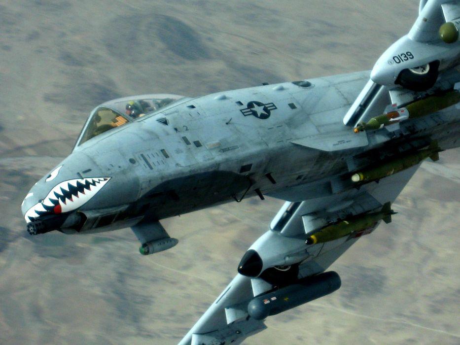 A-10 bomber jet fighter bomb military airplane plane thunderbolt warthog (64) wallpaper