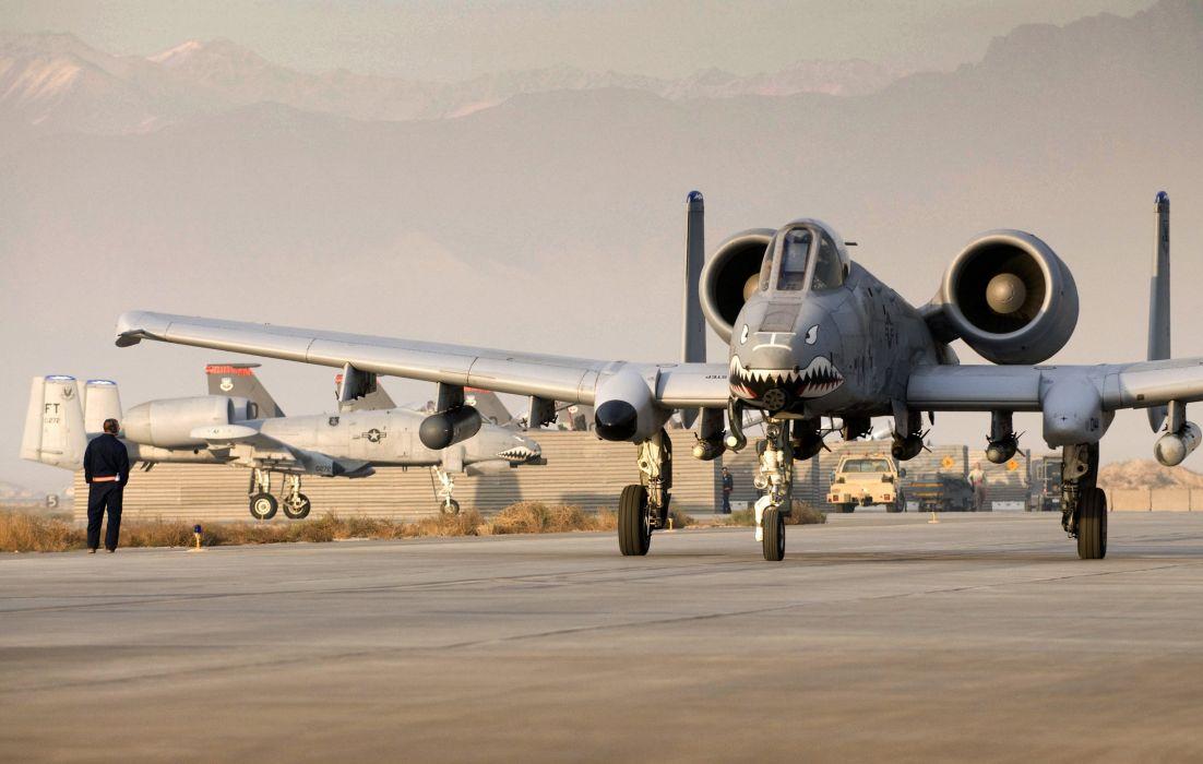 A-10 bomber jet fighter bomb military airplane plane thunderbolt warthog (67) wallpaper