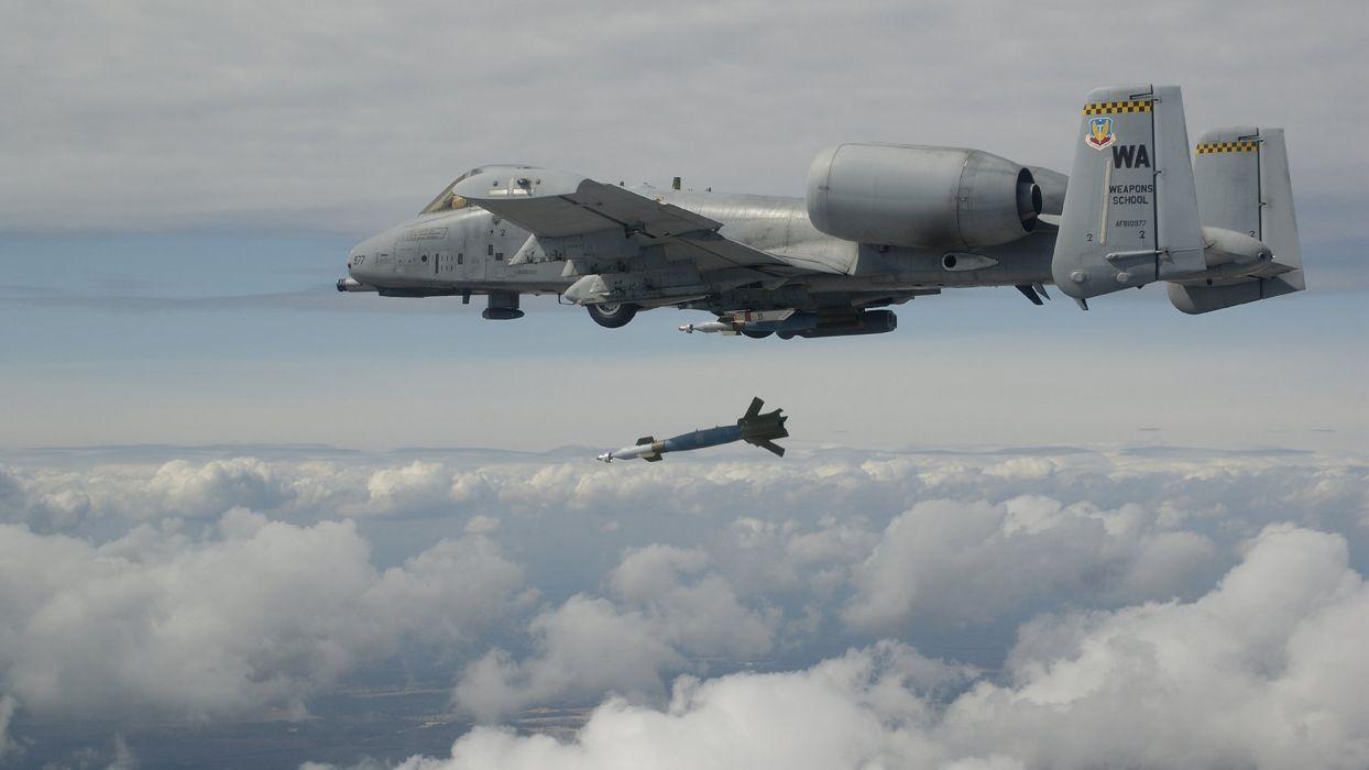 A-10 bomber jet fighter bomb military airplane plane thunderbolt warthog (75) wallpaper