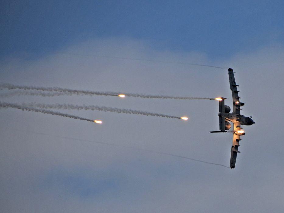 A-10 bomber jet fighter bomb military airplane plane thunderbolt warthog (80) wallpaper