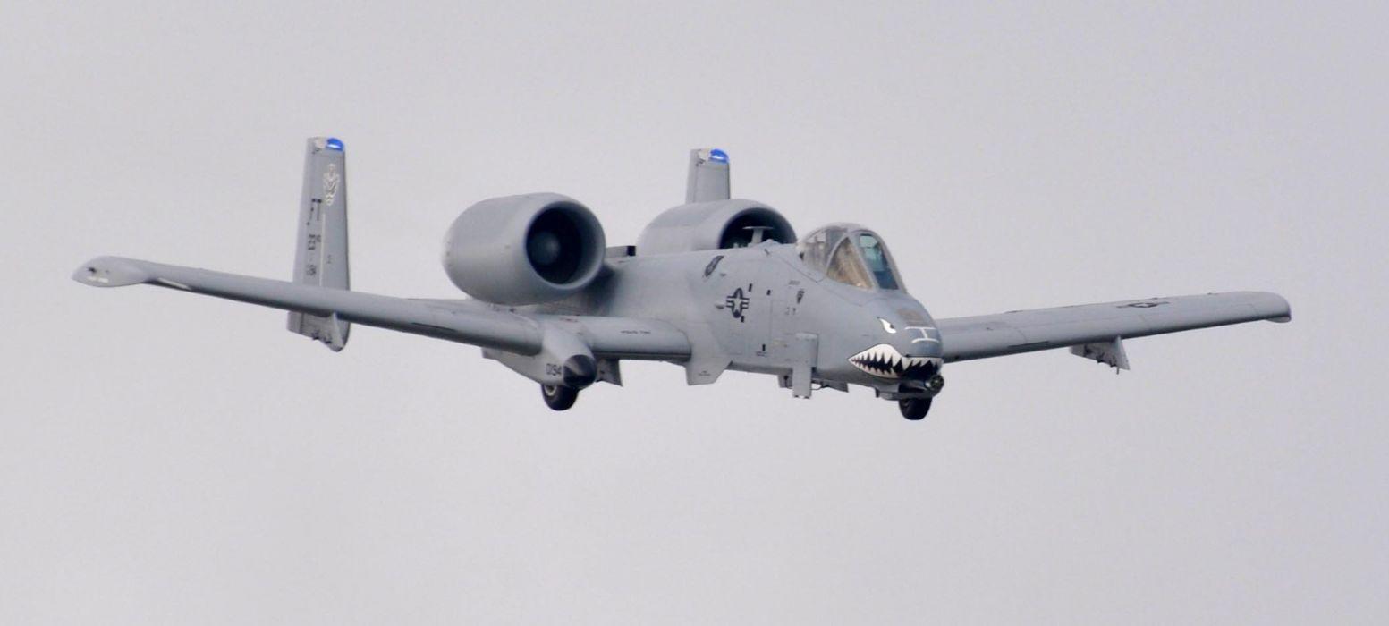 A-10 bomber jet fighter bomb military airplane plane thunderbolt warthog (87) wallpaper