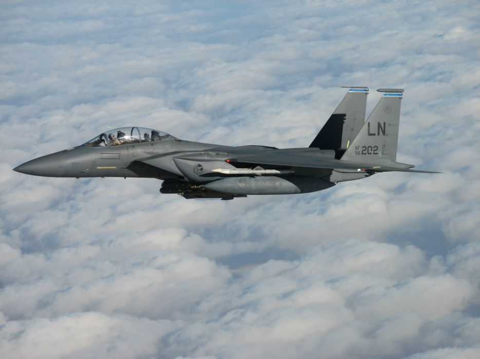 F-15 fighter jet military airplane eagle plane (8) wallpaper