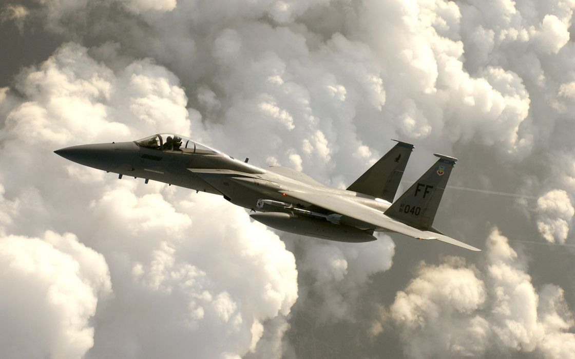 F-15 fighter jet military airplane eagle plane (13) wallpaper