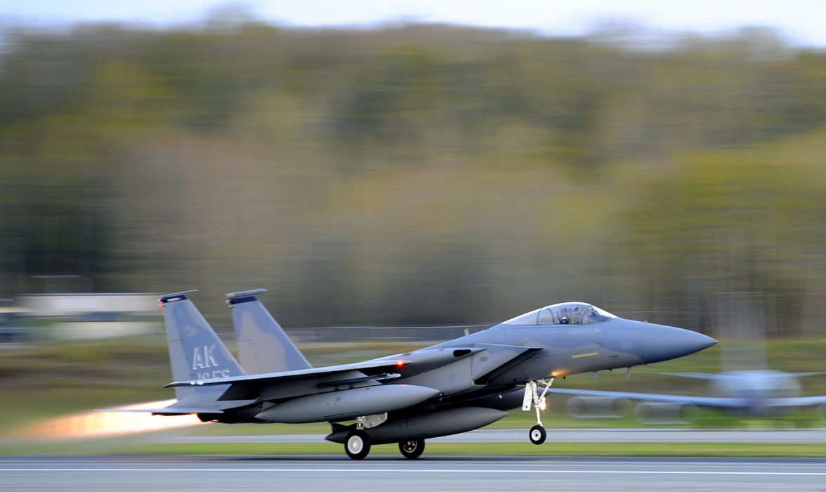 F-15 fighter jet military airplane eagle plane (41) wallpaper