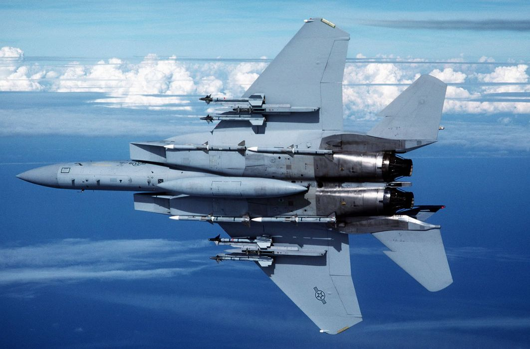 F-15 fighter jet military airplane eagle plane (42) wallpaper