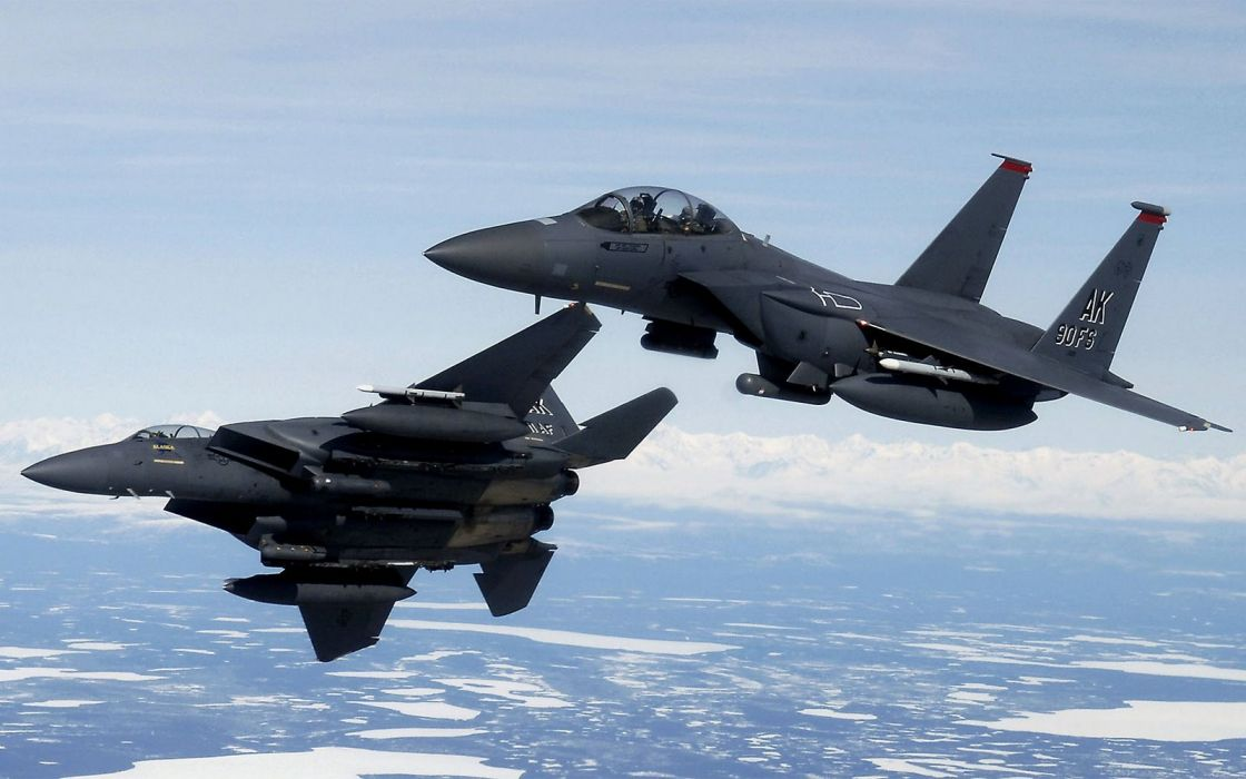 F-15 fighter jet military airplane eagle plane (43) wallpaper
