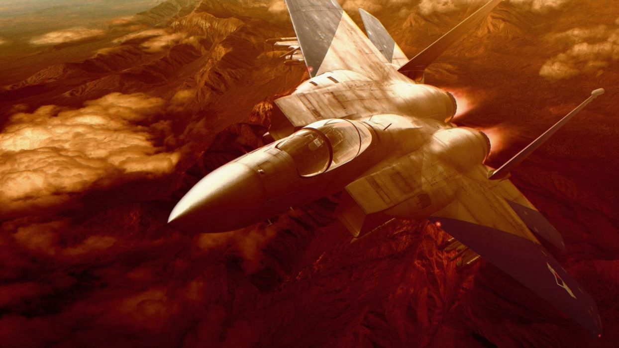F-15 fighter jet military airplane eagle plane (1) wallpaper