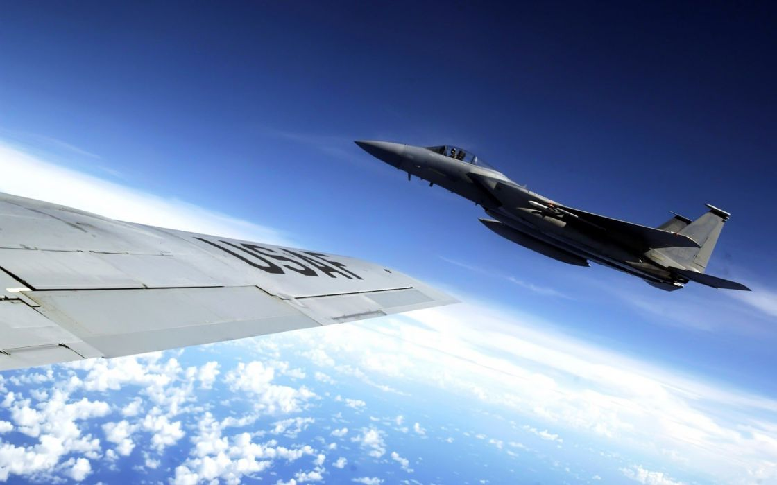 F-15 fighter jet military airplane eagle plane (2) wallpaper