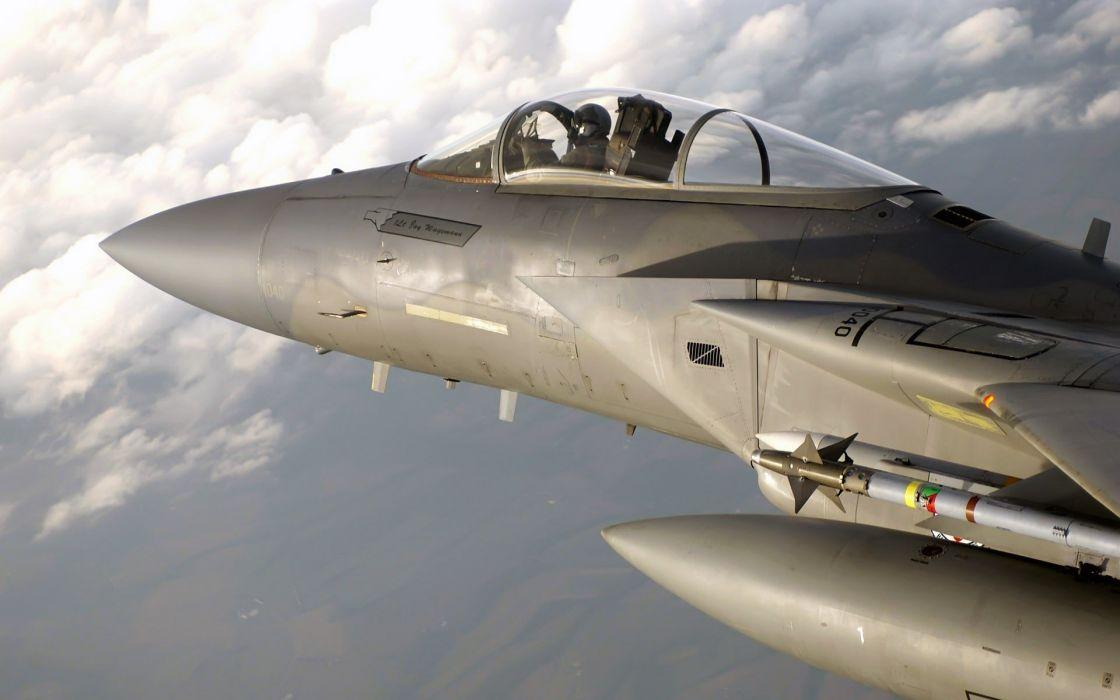 F-15 fighter jet military airplane eagle plane (4) wallpaper