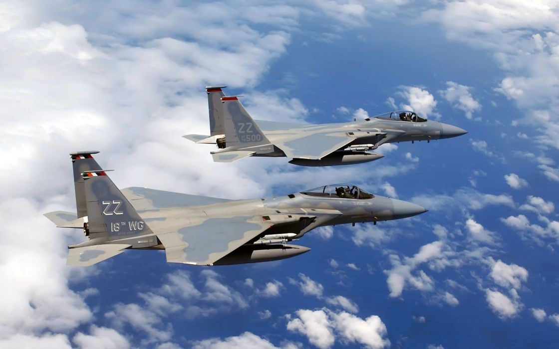 F-15 fighter jet military airplane eagle plane (5) wallpaper
