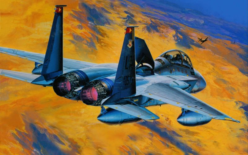 F-15 fighter jet military airplane eagle plane (11) wallpaper