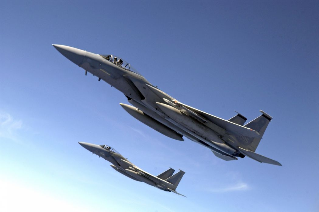F-15 fighter jet military airplane eagle plane (90) wallpaper