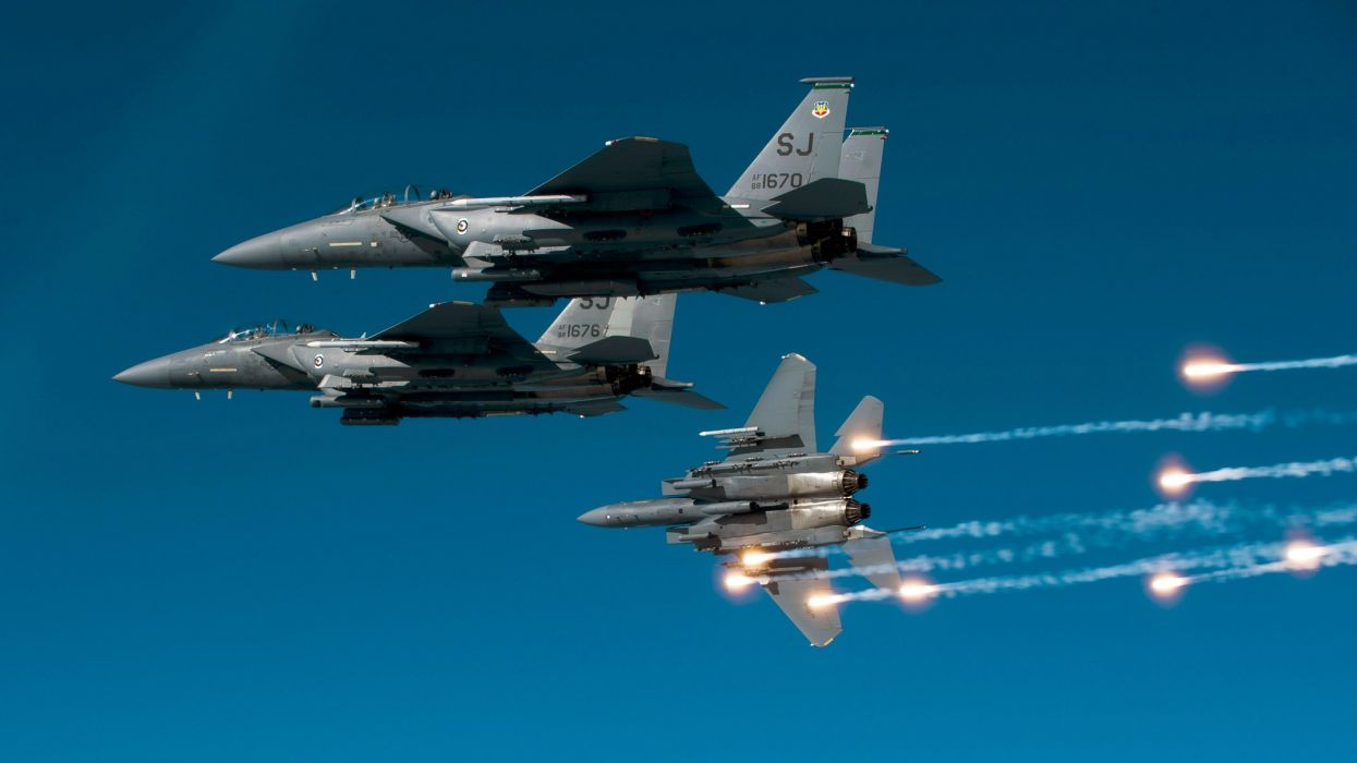 F-15 fighter jet military airplane eagle plane (116) wallpaper