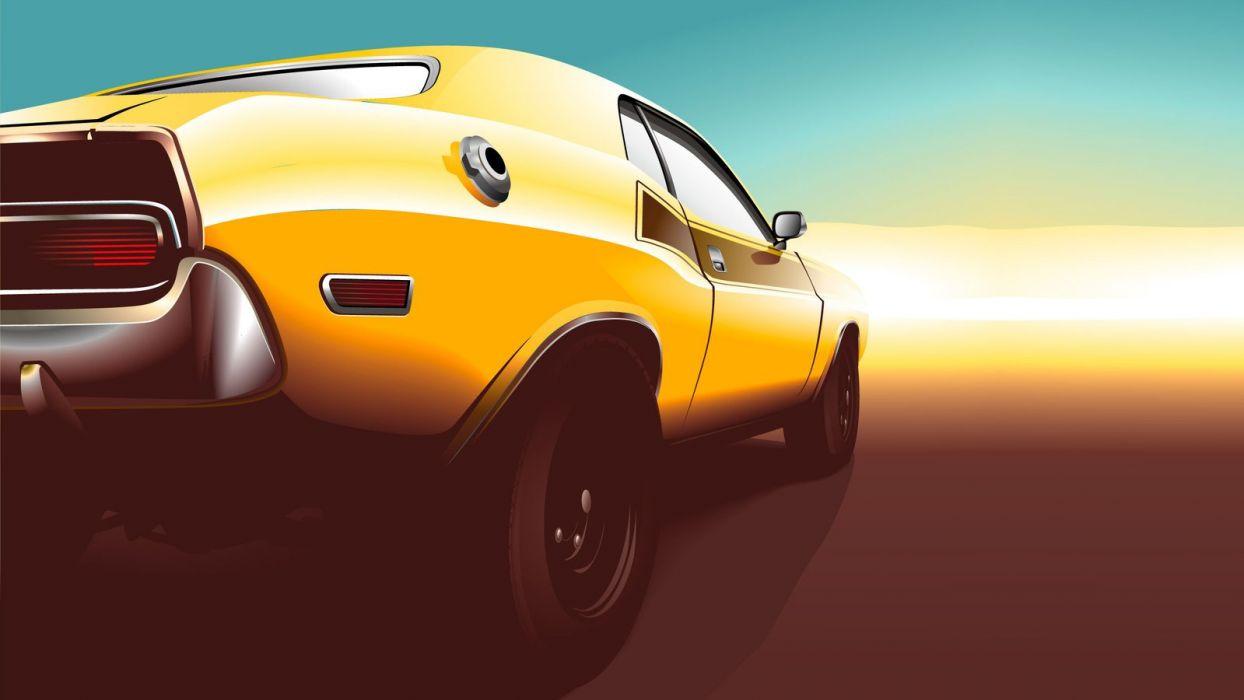 muscle car vector wallpaper