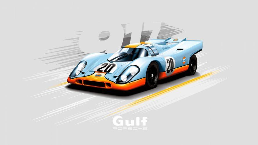 Porsche 917 Vector wallpaper