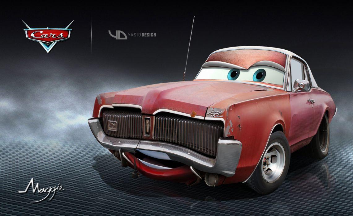 Maggie Disney pixar cars yasidDESIGN wallpaper