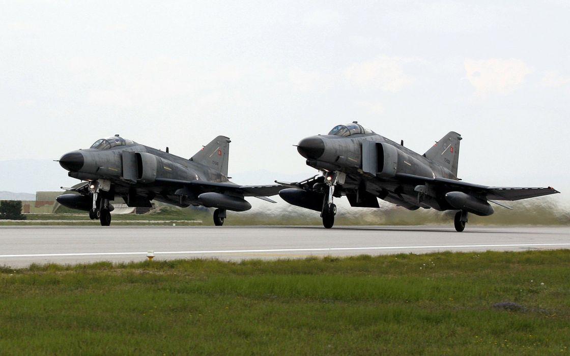 F-4 fighter jet bomber phantom airplane plane military (1) wallpaper
