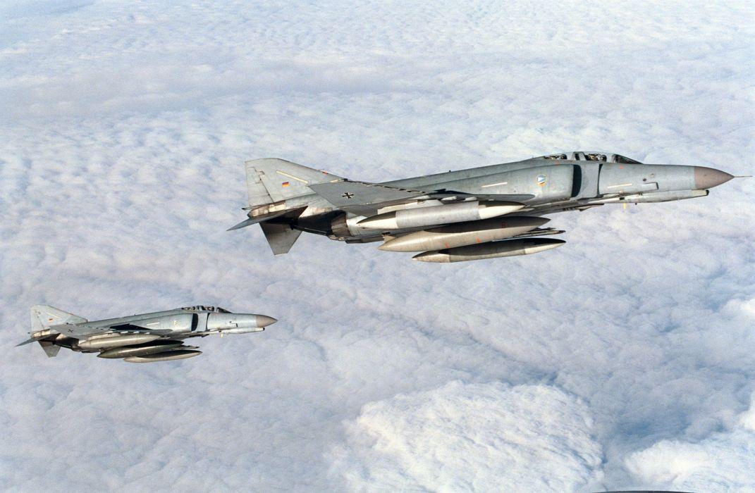 F-4 fighter jet bomber phantom airplane plane military (2)_JPEG wallpaper