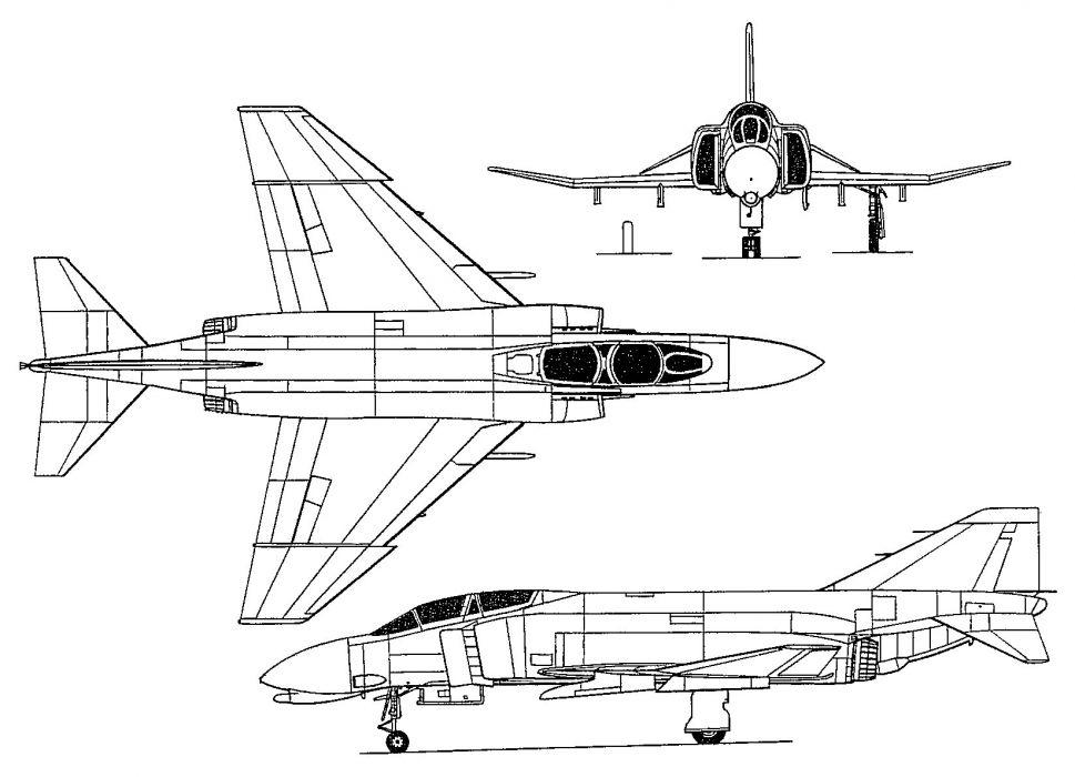 F-4 fighter jet bomber phantom airplane plane military (4) wallpaper