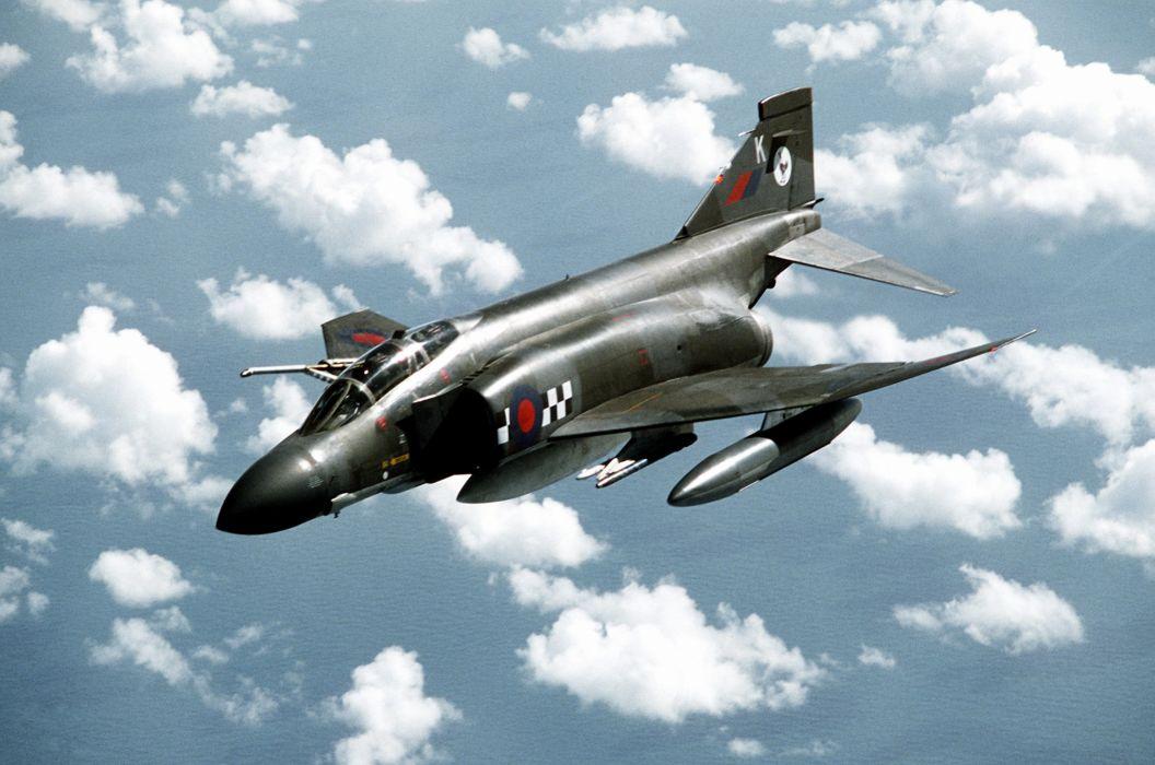 F-4 fighter jet bomber phantom airplane plane military (5) wallpaper