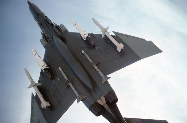 F-4 fighter jet bomber phantom airplane plane military (6) wallpaper